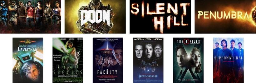 Классика фильмов, сериалов и игру ужасов