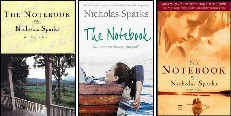 Обложки книги Николаса Спаркса Дневник памяти