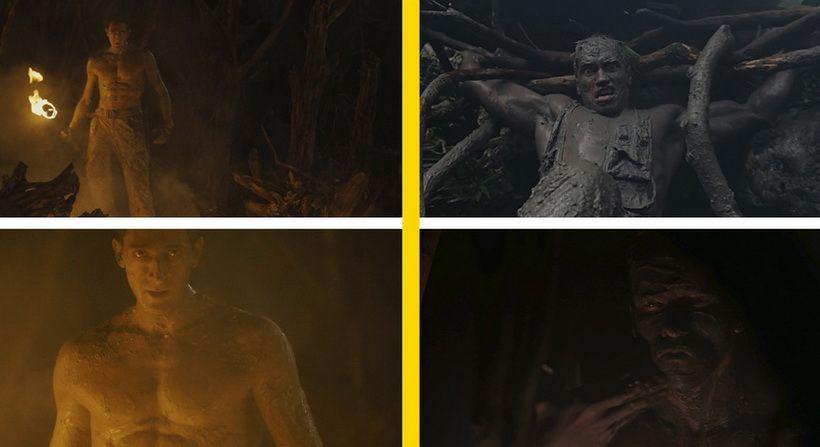 Герой мажется грязью от тепла