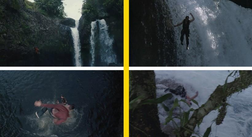Падение с водопада фильм Хищники