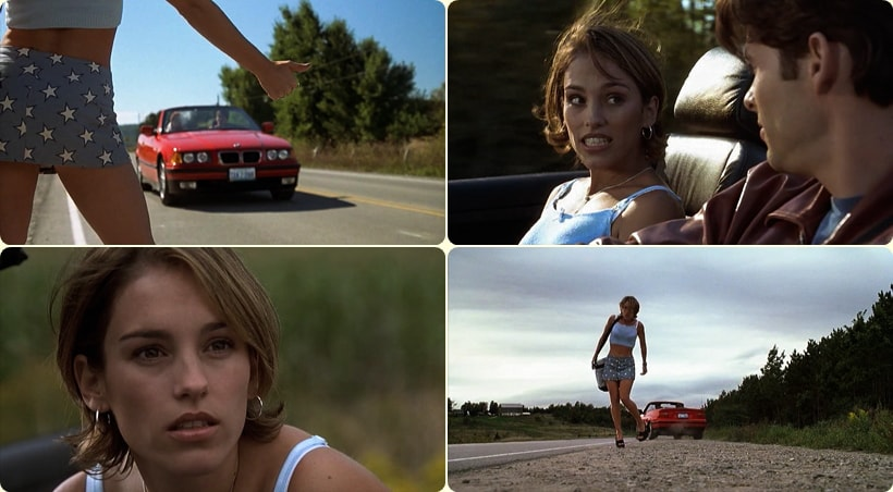 Попутчица на дороге - девушка Лаура
