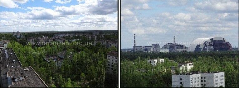 Панорама на Чернобыльскую Атомную станцию