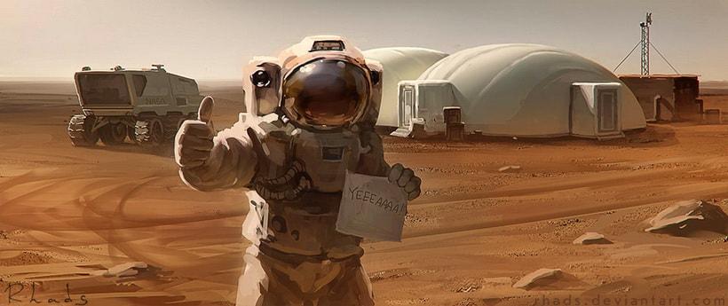 Жизнь одного астронавта на Марсе Энди Уир