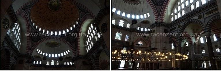 Внутри Мечеть Сулеймание (Süleymaniye Camii)