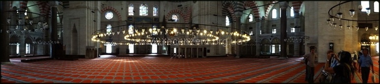 Панорамный снимок внутри Сулеймание