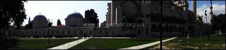 Панорамный кадр Suleimanie Camii