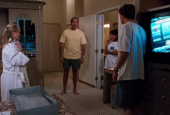 Гризволды в роскошном номере в гостинице Mirage в Лас-Вегасе