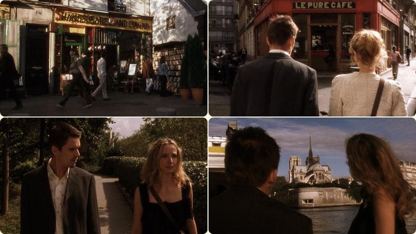 Прогулка по улицам Парижа - Селин и Джесси