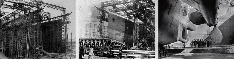 Строительство судна Титаник в Белфасте