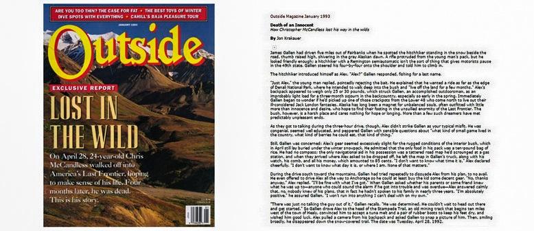 Журнал Outside январь 1993 года