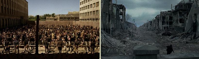 Кадры из фильма Пианист - съемки велись в Варшаве