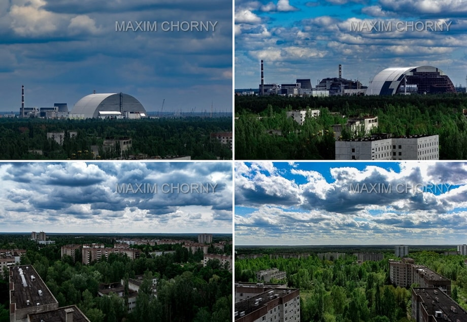 ON THE ROOF OF PRIPYAT. CIty of Pripyat today