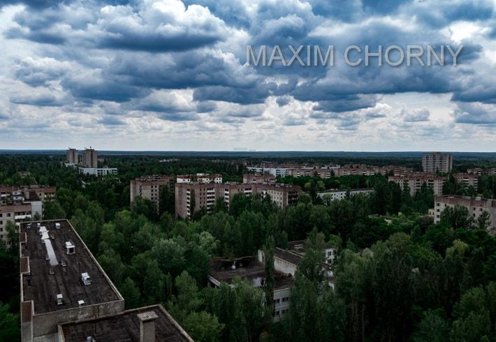 Another city panoramana of Pripyat street view