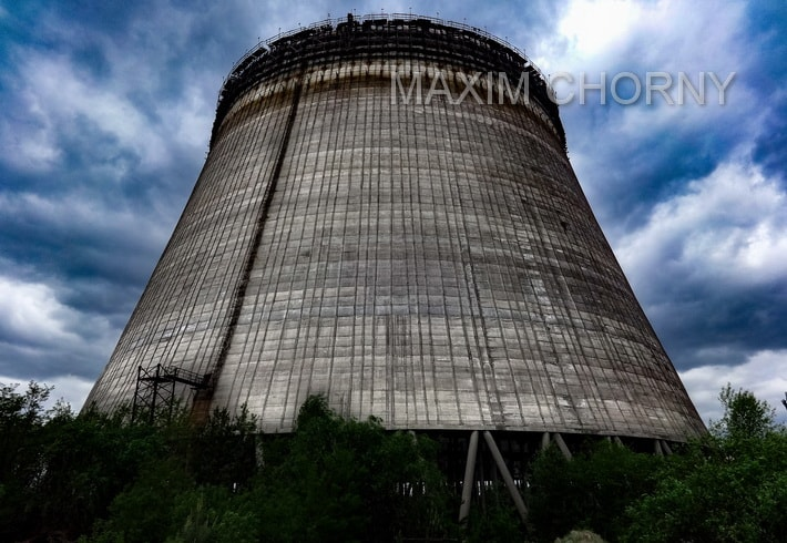 Chernobyl Cooling tower of the 3th construction state