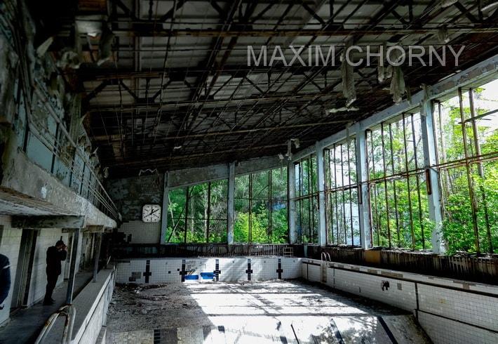 Lazurny Pripyat swimming pool - main facility