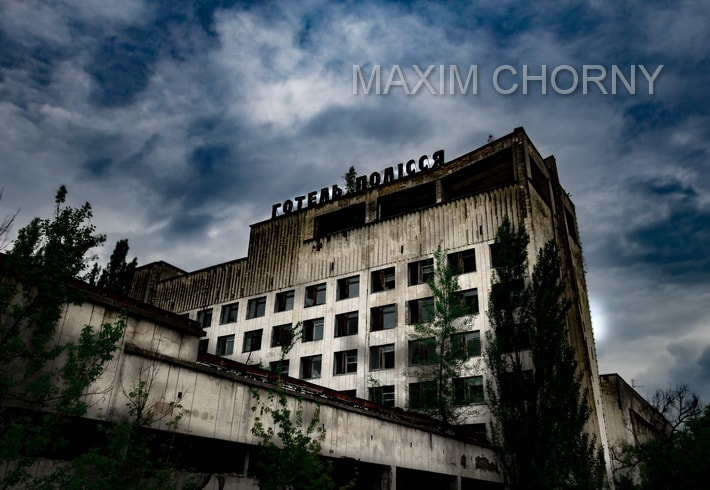 Another legendary Pripyat today building - Polissya hotel