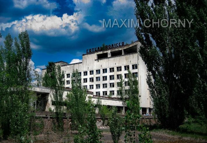 Polissya hotel in 2015 - among few Pripyat dangerous buildings