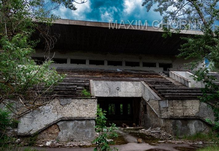 Avangard Pripyat City Stadium - Pripyat today