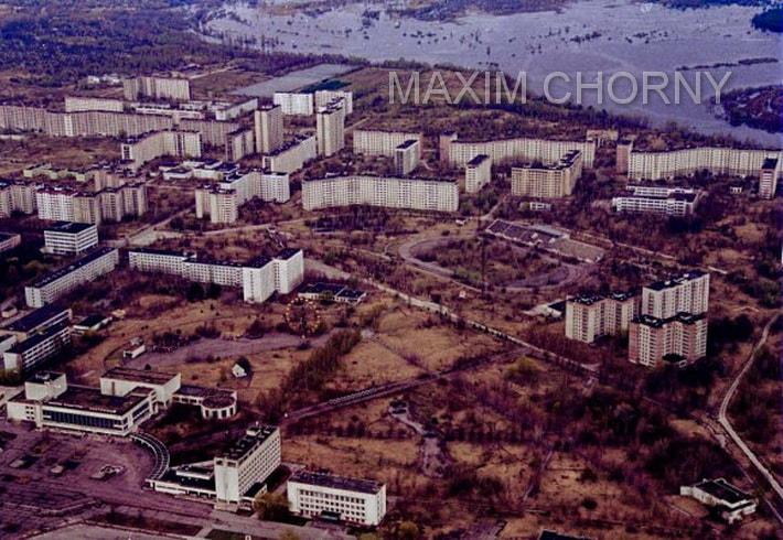 "Famous photo of the ""Avangard stadium"", taken in the mid 90-th"