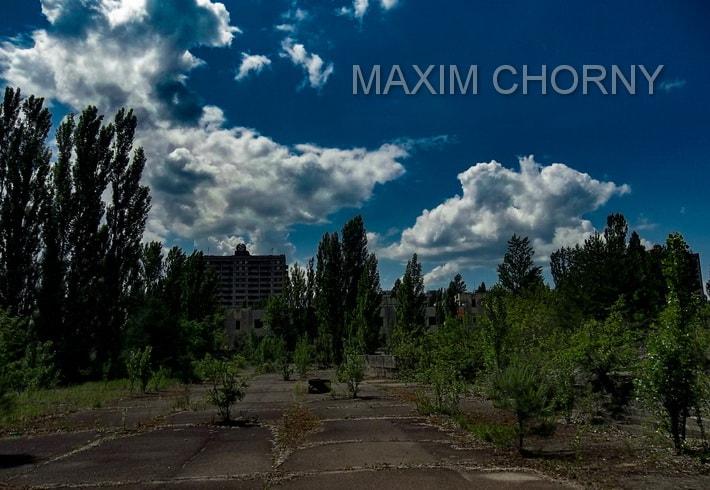 Pripyat central square - photo I've taken in 2013