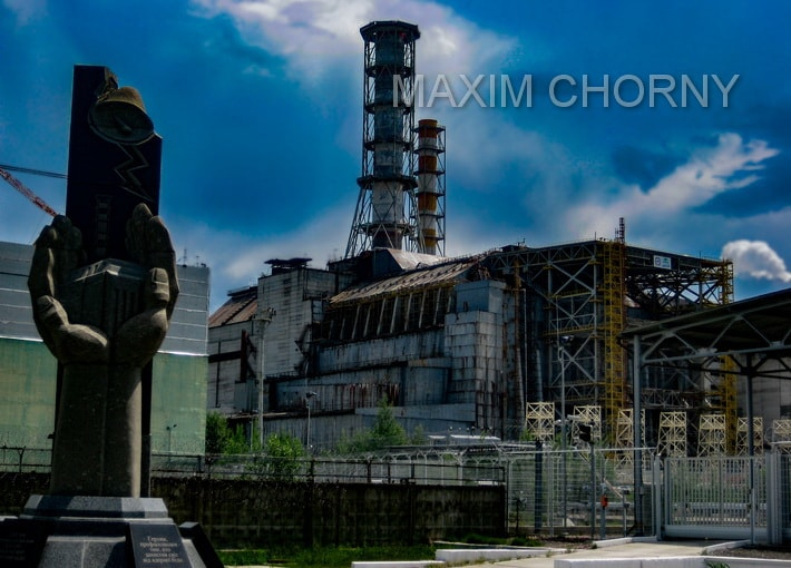 Famous Chernobyl sarcophagus - I've made this photo in May 2015