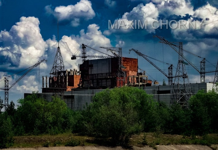 Unfinished construction of the 5th and 6th Chernobyl Nuclear Power Plant reactors