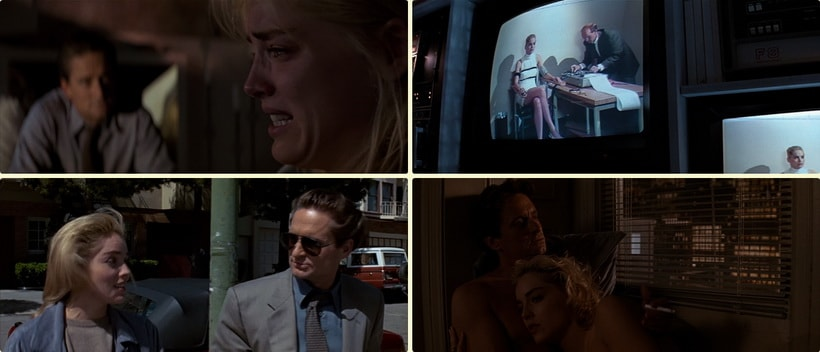Sharon Stone is no a murder in Basic instinct 1992