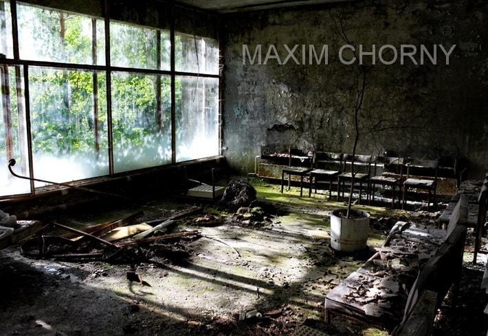 Hallway of the Pripyat Hospital (Medical Complex)