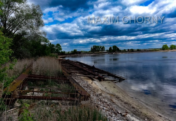Bank of former Chernobyl Nuclear Power Plant Cooling pond