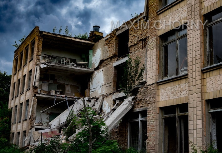 Part of School № 1 crushed down – twice: in 2005 and 2013