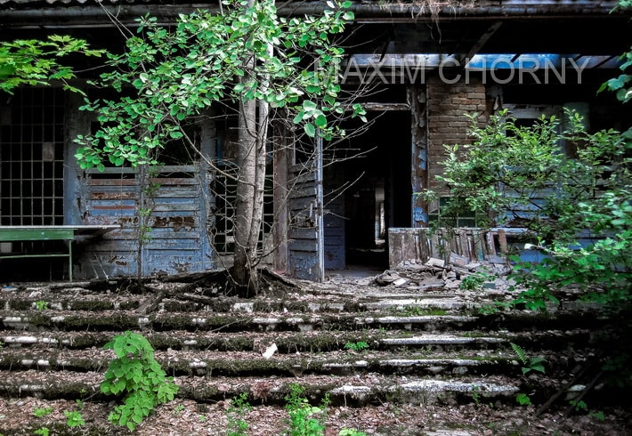 Former entrance to the School № 1 in Pripyat