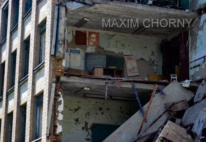Inner premises of Pripyat School № 1, revealed after crush
