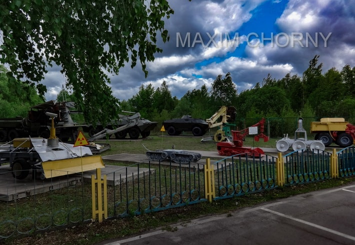 Scrapped vehicles museum in Chernobyl Exclusion Zone