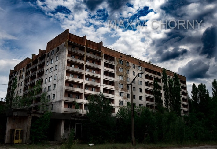 "Residential building (""White House"") in the very center of Pripyat"