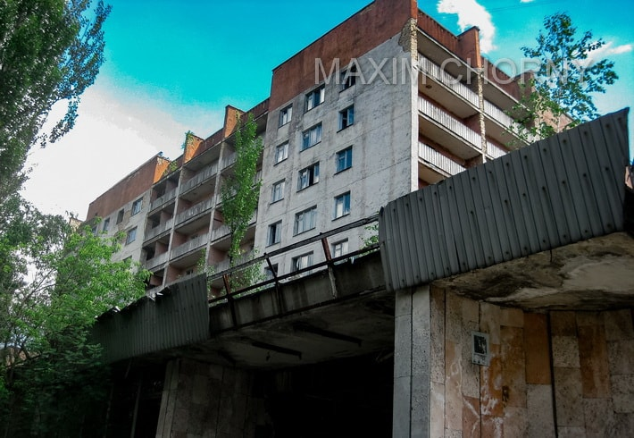 """Residential building (""""White House"""") is now a dangerous building to visit in Pripyat"""