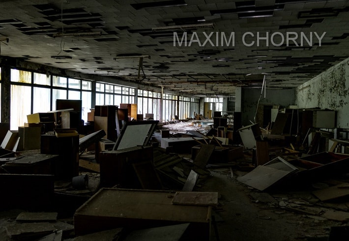 """""""Raduga"""" shopping store on the first floor of the Pripyat """"White House"""""""