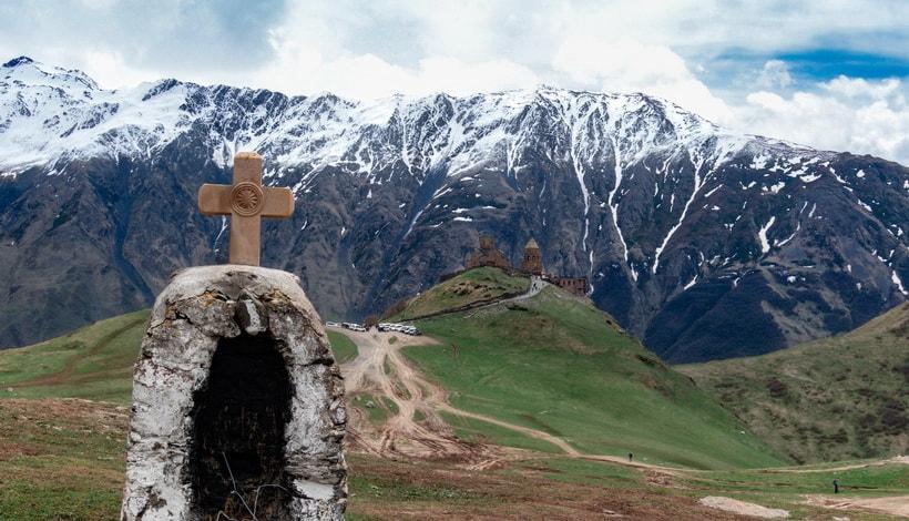 Храм Гергети в Грузии