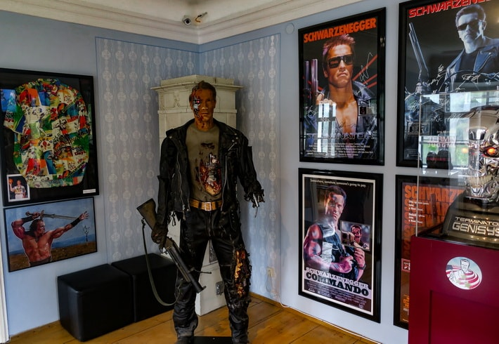 Wax model of a legendary T-800