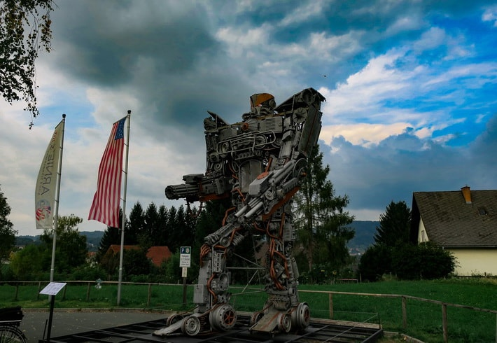 One of the robot statues in Thal Austria