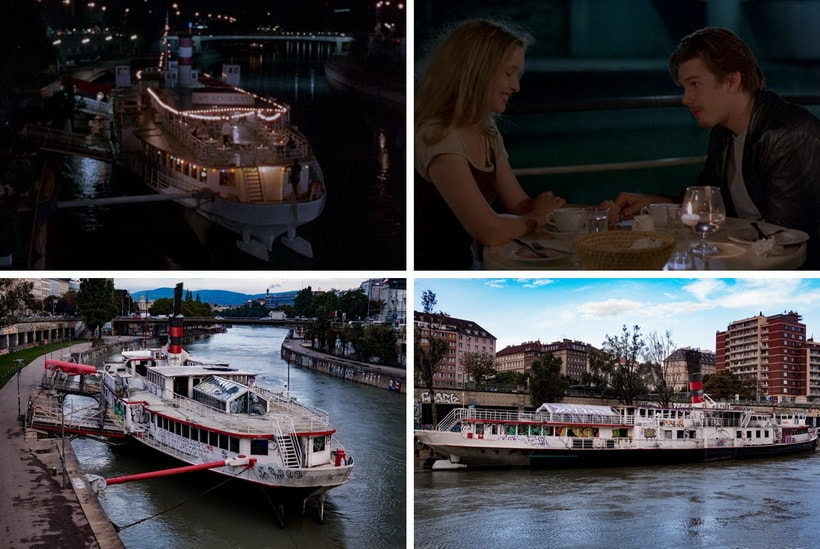 BOAT CAFÉ ON THE DANUBE Ethan Hawke and Julia Delpy
