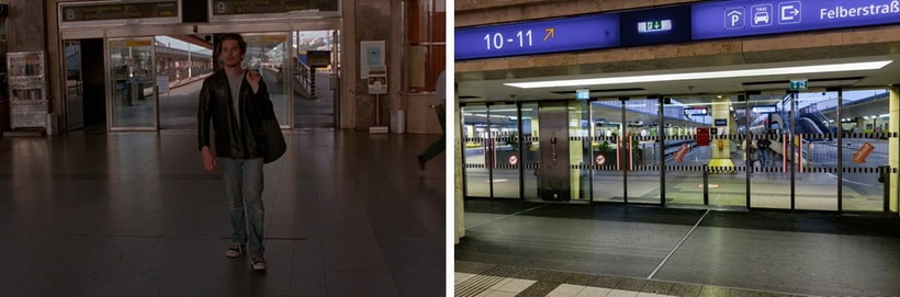 SAYING GOODBYE AT THE WESTBAHNHOF before sunrise movie locations