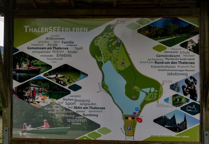 Site map of Thal Austria with memorable places of interest