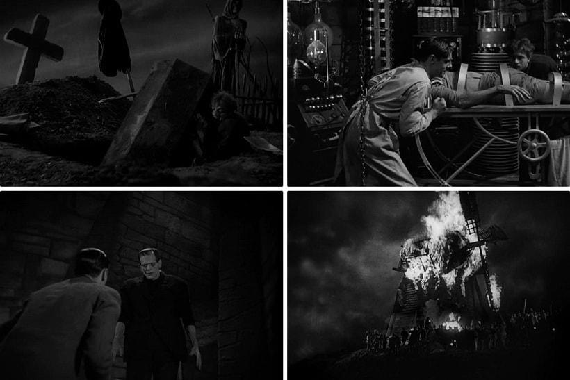 Ужасы старые фильмы Франкенштейн