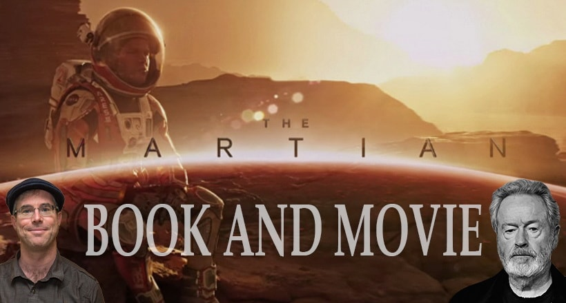 The Martian and Mark Watney. Book and movie