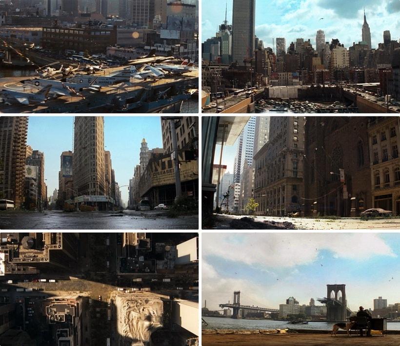 Я легенда Нью-Йорк в фильме 2007