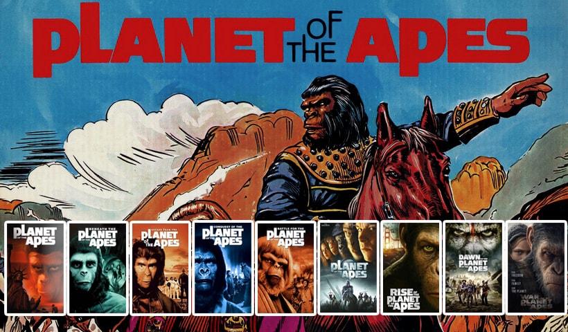 Планета обезьян книга и все фильмы Planet of the Apes