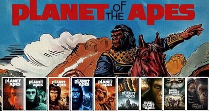 Планета обезьян все фильмы и книга Пьера Буля