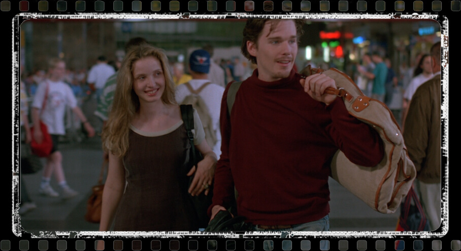 Jesse (Ethan Hawke) and Celine (Julie Delpy)