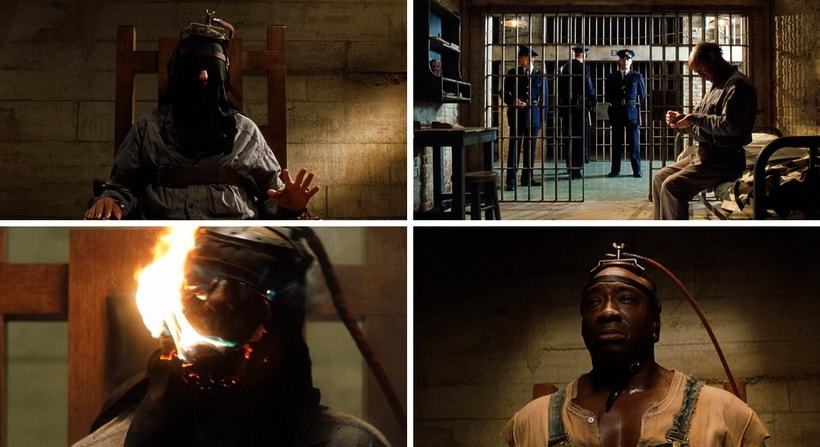 the theme of capital punishment in the green mile These capital punishment sequences have much power and significance the electrocutions, one in particular, contain some of the most unsettling but demons do exist in the green mile and there is a man named john coffey who takes them unto himself the green mile refers to the cell block.