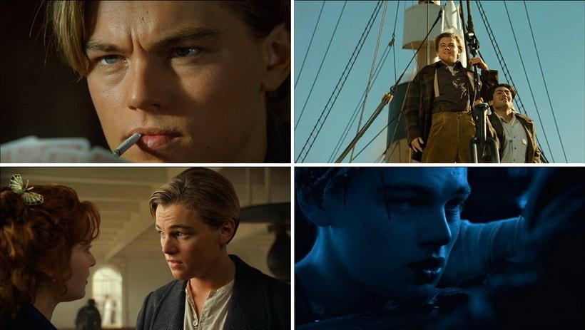 Ди Каприо в роле Джека Доусона в Титанике